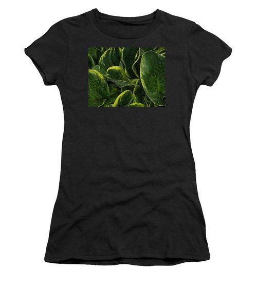 Giant Hosta Closeup Women's T-Shirt (Athletic Fit)