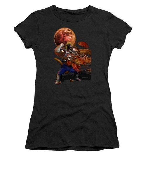 Giant Monkey Vs Shen Long Women's T-Shirt (Athletic Fit)