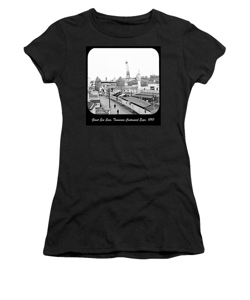 Women's T-Shirt (Junior Cut) featuring the photograph Giant See Saw Tennessee Centennial Exposition 1897 by A Gurmankin
