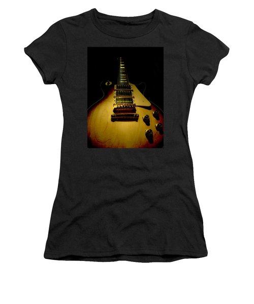 Women's T-Shirt featuring the digital art Guitar Triple Pickups Spotlight Series by Guitar Wacky