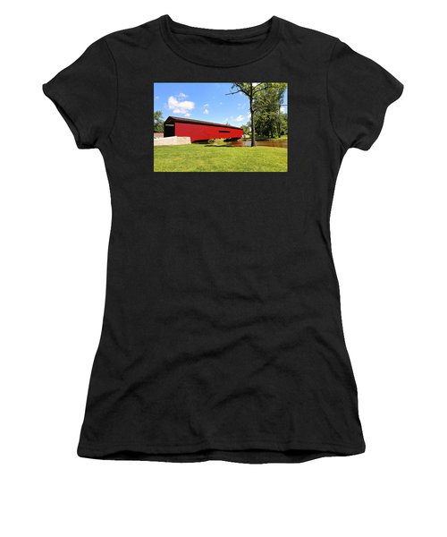 Gilpin's Falls Covered Bridge Women's T-Shirt (Athletic Fit)