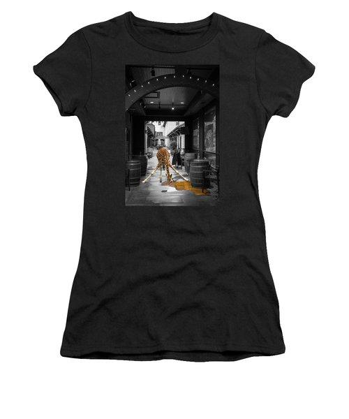 Giraffe Drinking Whiskey Series 4987y Women's T-Shirt