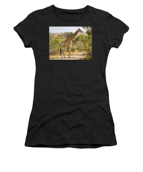 Giraffe Grazing Women's T-Shirt