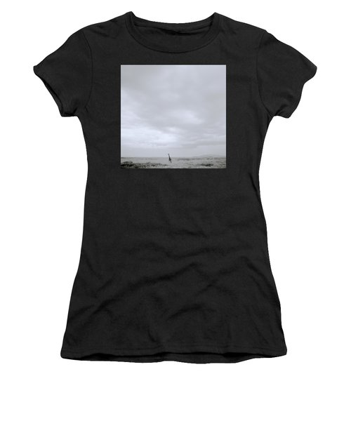 Giraffe Under Big Sky Women's T-Shirt (Junior Cut) by Shaun Higson