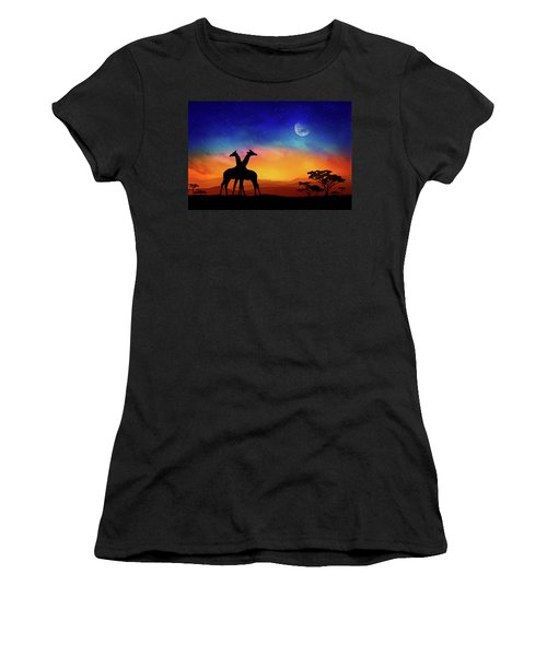 Giraffes Can Dance Women's T-Shirt (Athletic Fit)