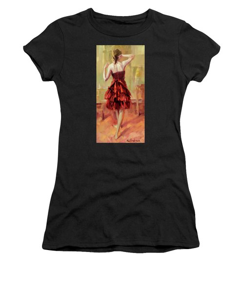 Girl In A Copper Dress IIi Women's T-Shirt