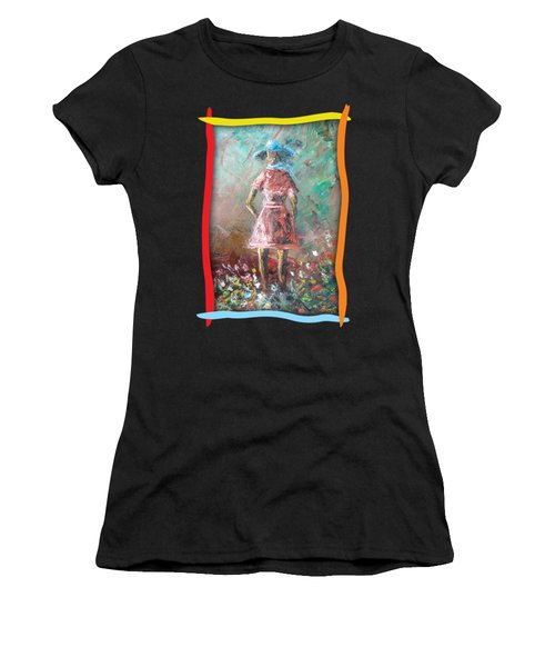 Girl In The Garden Women's T-Shirt