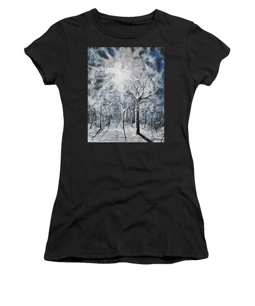 Girl In The Woods Women's T-Shirt