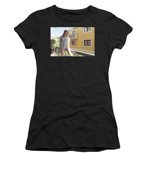Girl On Balcony Women's T-Shirt