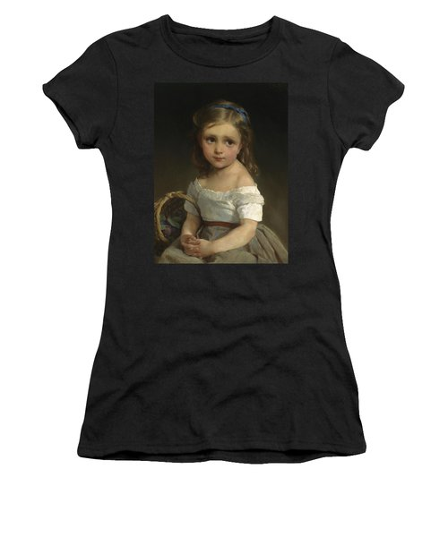Girl With Basket Of Plums Women's T-Shirt