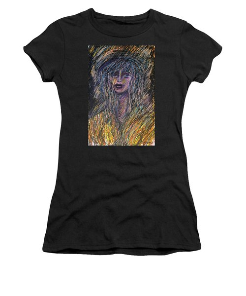 Girl With Hat Women's T-Shirt (Athletic Fit)