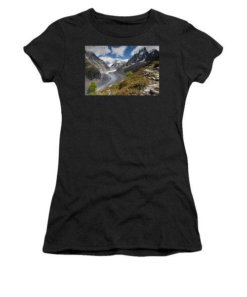 Glacier De La Mer De Glace Women's T-Shirt