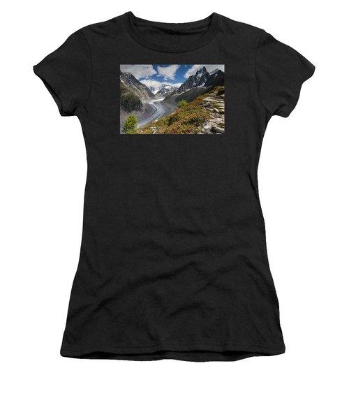 Glacier De La Mer De Glace Women's T-Shirt (Athletic Fit)