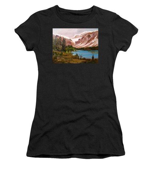 Glacier Lake Women's T-Shirt (Athletic Fit)