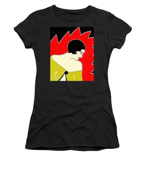 Glancing Down Women's T-Shirt