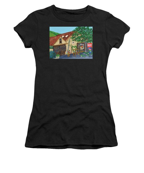 Glass Blower Shop Harmony California Women's T-Shirt (Athletic Fit)