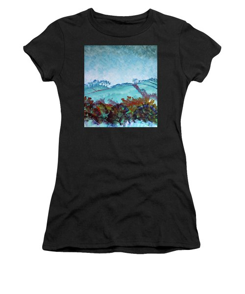 Gloomy Overcast Cloudy Day Devon Rolling Hills Women's T-Shirt