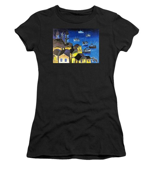 Glouchester Harbor Women's T-Shirt (Athletic Fit)