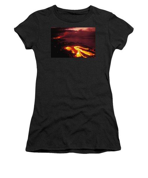 Glowing Lava Flow Women's T-Shirt