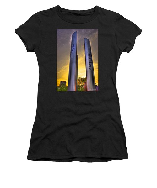 Go Tech Georgia Tech Sunset Art Women's T-Shirt (Junior Cut) by Reid Callaway