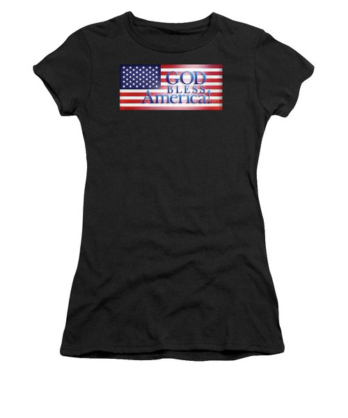 God Bless America Women's T-Shirt (Athletic Fit)