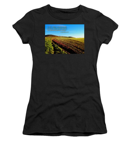 Women's T-Shirt (Junior Cut) featuring the photograph God Gives The Increase by Glenn McCarthy