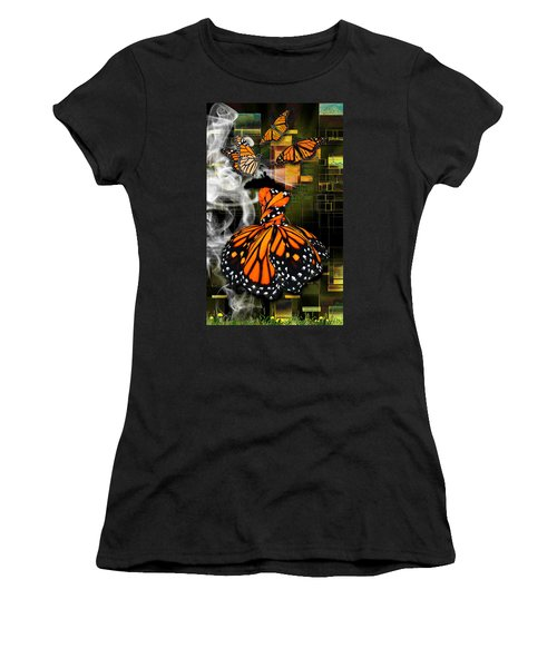 Women's T-Shirt (Athletic Fit) featuring the mixed media Going The Distance by Marvin Blaine