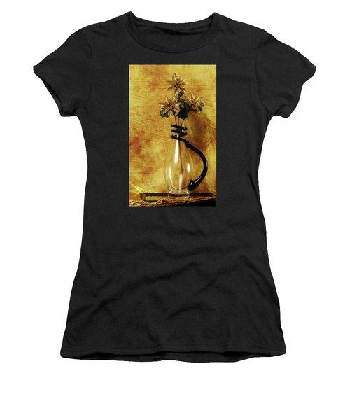 Gold Flowers In Vase Women's T-Shirt