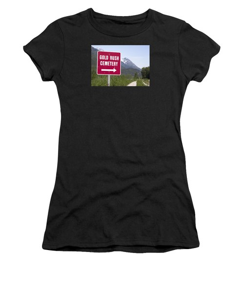 Gold Rush Cemetery Women's T-Shirt (Athletic Fit)