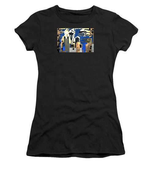Gold Seatown Women's T-Shirt (Athletic Fit)