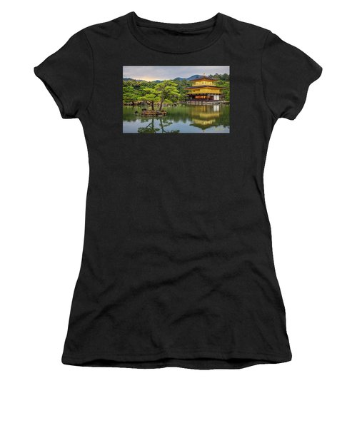 Women's T-Shirt (Athletic Fit) featuring the photograph Gold Temple,  by Rikk Flohr