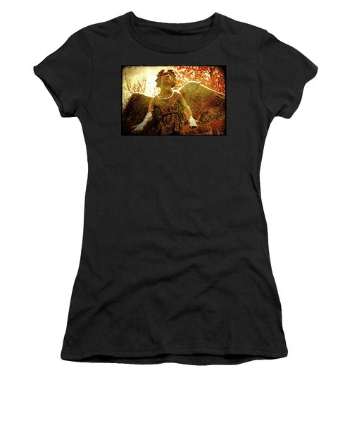 Women's T-Shirt (Junior Cut) featuring the photograph Golden Angel Of Hope by Jean Haynes