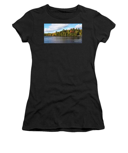 Golden Autum Day Women's T-Shirt (Athletic Fit)