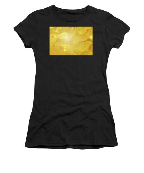 Golden Autumn Leaves Women's T-Shirt