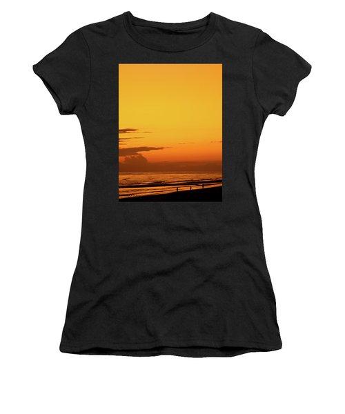 Golden Beach Sunset Women's T-Shirt (Athletic Fit)