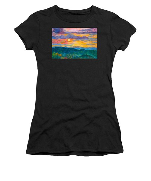 Golden Blue Ridge Sunset Women's T-Shirt
