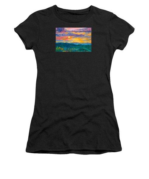 Golden Blue Ridge Sunset Women's T-Shirt