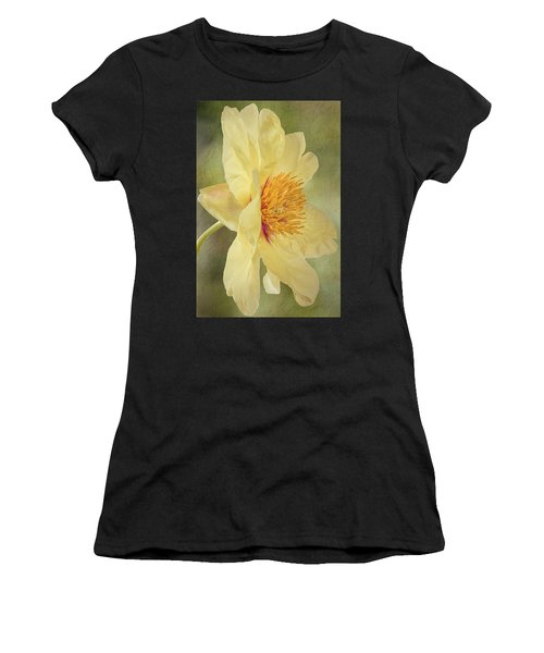 Golden Bowl Tree Peony Bloom - Profile Women's T-Shirt (Athletic Fit)