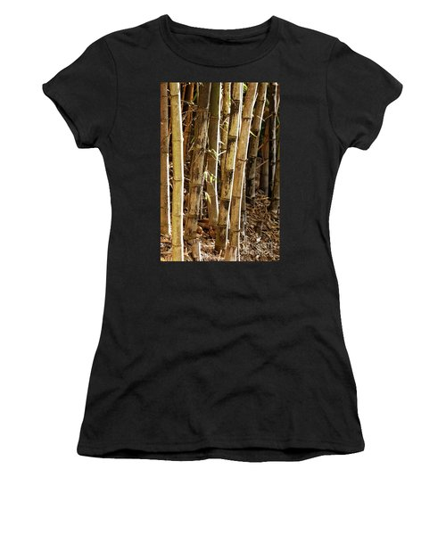 Women's T-Shirt (Athletic Fit) featuring the photograph Golden Canes by Linda Lees