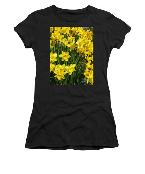 Golden Daffodils Women's T-Shirt (Athletic Fit)
