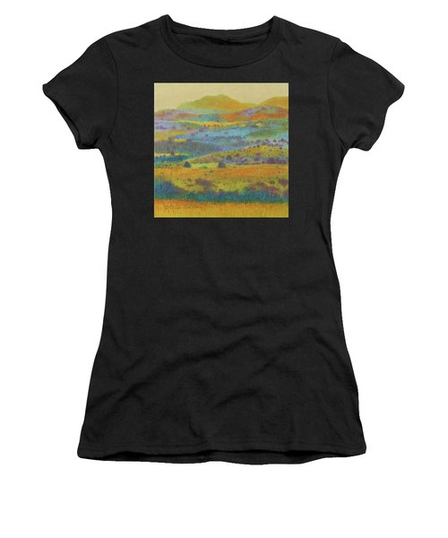 Women's T-Shirt featuring the painting Golden Dakota Day Dream by Cris Fulton