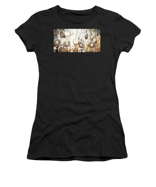 Golden Faces Of Time Women's T-Shirt