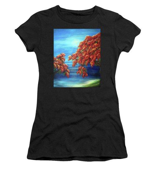 Golden Flame Tree Women's T-Shirt