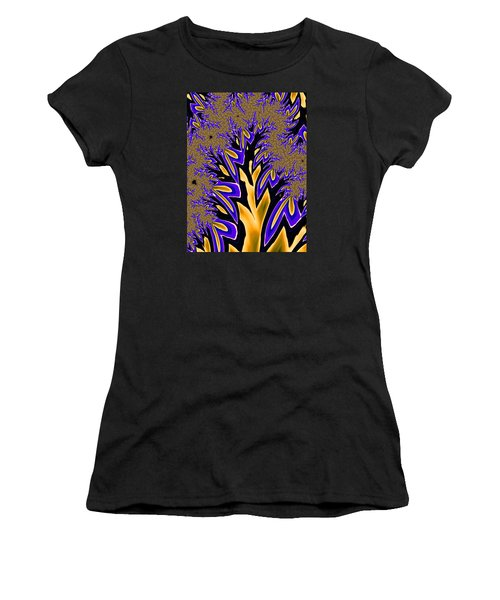 Golden Fractal Tree Women's T-Shirt (Athletic Fit)