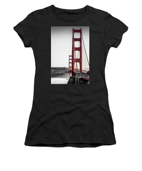 Golden Gate Black And Red Women's T-Shirt