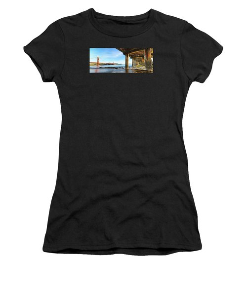 Golden Gate Bridge From Under Fort Point Pier Women's T-Shirt (Athletic Fit)