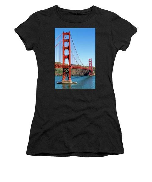 Golden Gate Bridge On Sunny Morning Women's T-Shirt