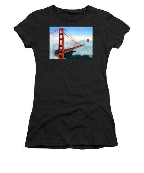 Golden Gate Bridge Sunset Women's T-Shirt (Athletic Fit)