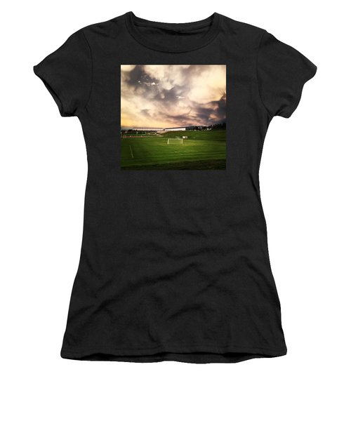 Women's T-Shirt (Junior Cut) featuring the photograph Golden Goal by Christin Brodie
