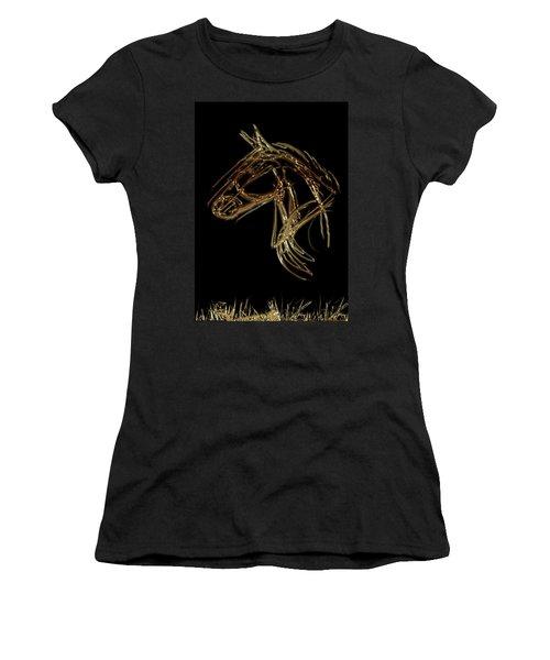 Golden Horse Women's T-Shirt (Athletic Fit)